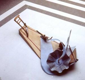 'Adrift' 1980 Resin, Wood & Bone 4m x 3m x 2m