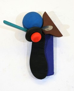 'Bud' 2000 Wall Based Sculpture 23cm x 23 cm x 12cm  Wood & Metal