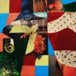 'Butterfly Effect' 2003 Digital Print & Oil Paint 1m x 1m