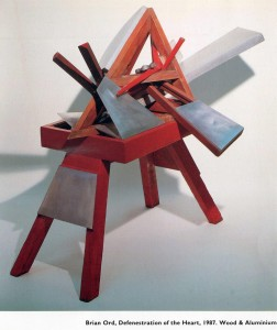 'Defenestration of the Heart' 1987 Wood & Metal 2m x 2m x 1m