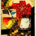 'Gumbo' 1997 Oil Paint & Collage 50 x 65 cms