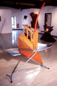 'Ibis' 1988 Wood & Metal 3m x 2m x 1m