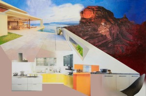 Picnic at Hanging Rock 2015 – 120 x 80cms Digital Print , Oil Paint & Resin, on Canvas, from Collage