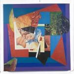 'Over the Moon' 2006 Digital Print & Oil Paint 76 x 76cms