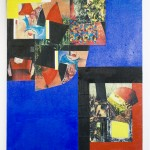 'Billy Stamper' 2000 Oil Paint & Collage 122 x 152 cms