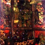 'Untitled' 1996 Oil Pastel & Collage on Paper 2m x 2m